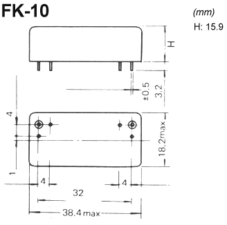 FK-10 crystal filter drawing